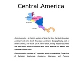 Central America - A World Region PowerPoint