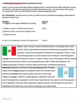 Central America Culture Packet