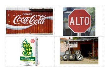 Central America Environmental Print Cards for Pre-Alphabetic/Phonetic Knowledge