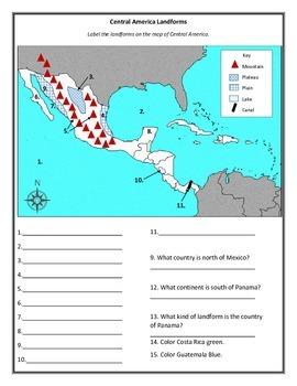 Central America Landforms