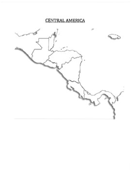 Blank Map Central America Teaching Resources Teachers Pay Teachers