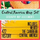 Mexico Central America Caribbean Map Set