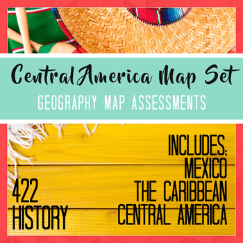 Mexico Central America Caribbean Map Set