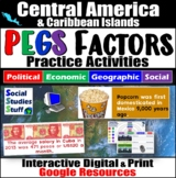 Central America PEGS Factors Interactive, Digital Lesson for Google Classroom
