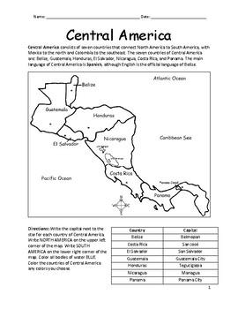 Central America - Printable Handout