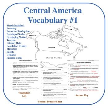 Central America Vocabulary