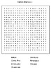 Central America  Word search
