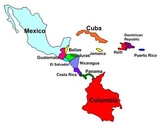 Central America and Caribbean Labeling Puzzle map