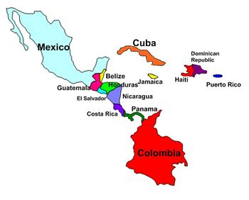 Central America and Caribbean Labeling Puzzle map by AJ Boyle | TpT