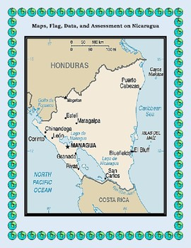 Central America and North America Geography Maps, Flags and Assessments  Bundle