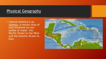 Central America & the Caribbean Human & Physical Geography Powerpoint & Notes