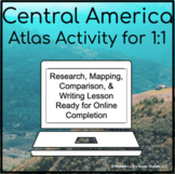 Central American America Geography Atlas Activity for 1:1