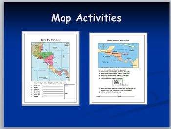 Central American Map Activities