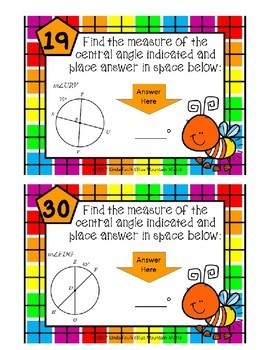 Central Angle Measures Boom Cards--Digital Task Cards