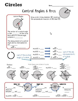 Central Angles & Arc Measurements