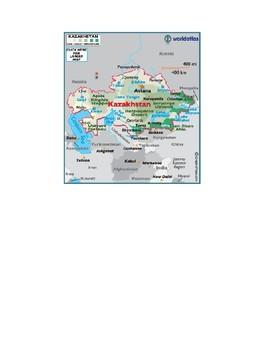 Central Asia Map Scavenger Hunt