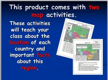 Central Asian Map Activities
