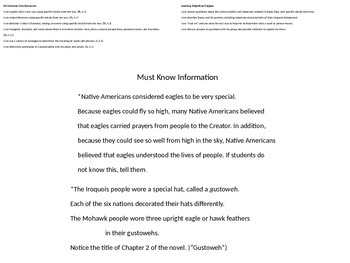 Central Conflict in Eagle Song  (Revisit Chapter 1, Begin Chapter 2)