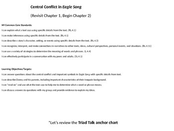 Central Conflict in Eagle Song  (Revisit Chapter 1, Begin