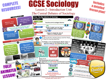 Central Debates of Sociology - Introduction Unit - L2/12 - GCSE Sociology (KS4)