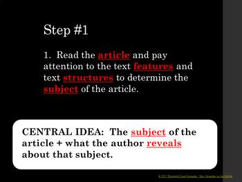 Central Idea Video {Downloadable} + INB foldable