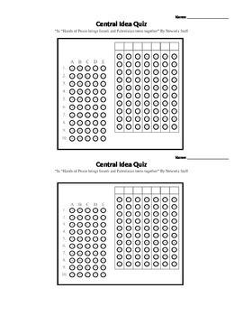 Central Idea Assessment