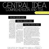 Central Idea Comprehension & TDA - Paper & Digital