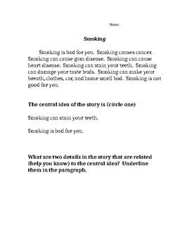 Central Idea/Details - Smoking