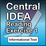 Central Idea Reading Exercise