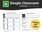 Central Idea Graphic Organizers for Google Classroom