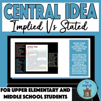 Central Idea Implied Vs Stated