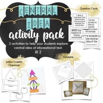 Central Idea {Main Idea} Foldable Activity for Non-Fiction
