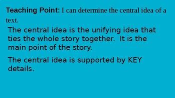 Central Idea/ Main Idea Powerpoint