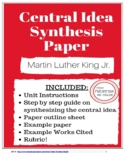 Central Idea Synthesis Paper- Martin Luther King Jr- TN Ready and Common Core