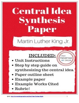 Central Idea Paper - Freshman- Martin Luther King Jr- TN Ready
