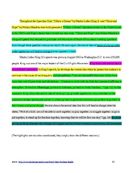Central Idea Synthesis Paper for ANY two texts- Common Core and TN Ready