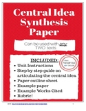 Central Idea Synthesis Paper for ANY two texts- Common Cor