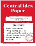 Central Idea Paper for ONE text- Common Core and TN Ready