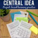 Central Idea Project Based Learning Practice with Menus + A Quiz!