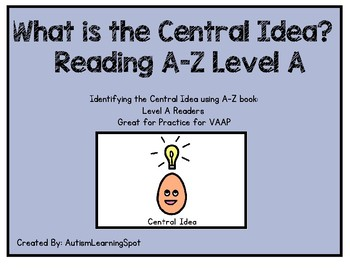Central Idea - Reading A-Z level A