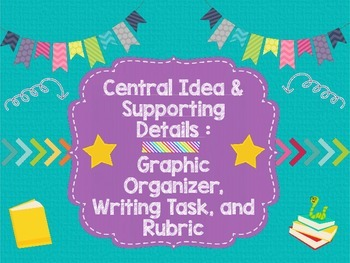 Central Ideas & Supporting Details: Graphic Organizer, Wri