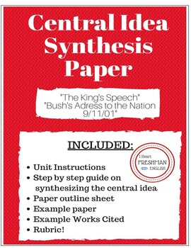 Central Idea Synthesis Paper- War Speeches- TN Ready