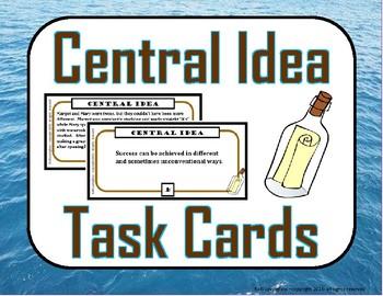 Central Idea (Theme) Task Cards
