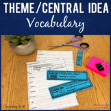 Theme and Central Idea:  Vocabulary with Word Wall & Domin