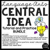 Central Idea Worksheets Bundle on Sports, Middle School ELA Test Prep, 4-8