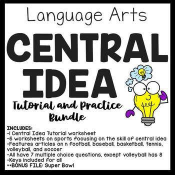 Central Idea Worksheets Bundle on Sports, Middle School EL