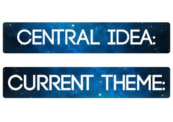 Central Idea and Current Theme signs