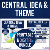 Central Idea and Theme PRINTABLE and DIGITAL BIG BUNDLE