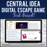 Central Idea in Nonfiction | Digital ESCAPE GAME