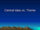 Central Idea vs. Theme PowerPoint